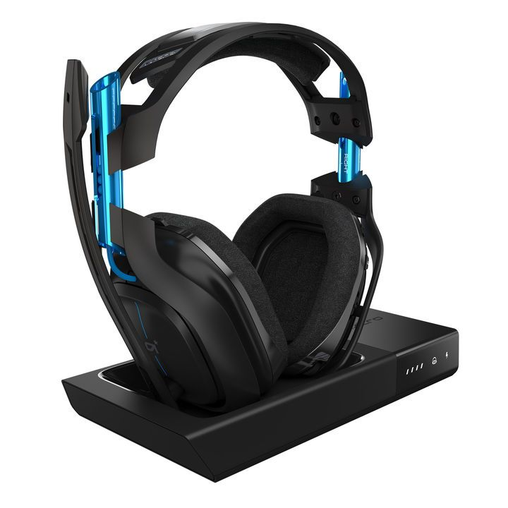 The Astro A50 for PlayStation 4 and PC features metallic blue highlights.  It s available on Amazon. Astro 24a9cccaf2