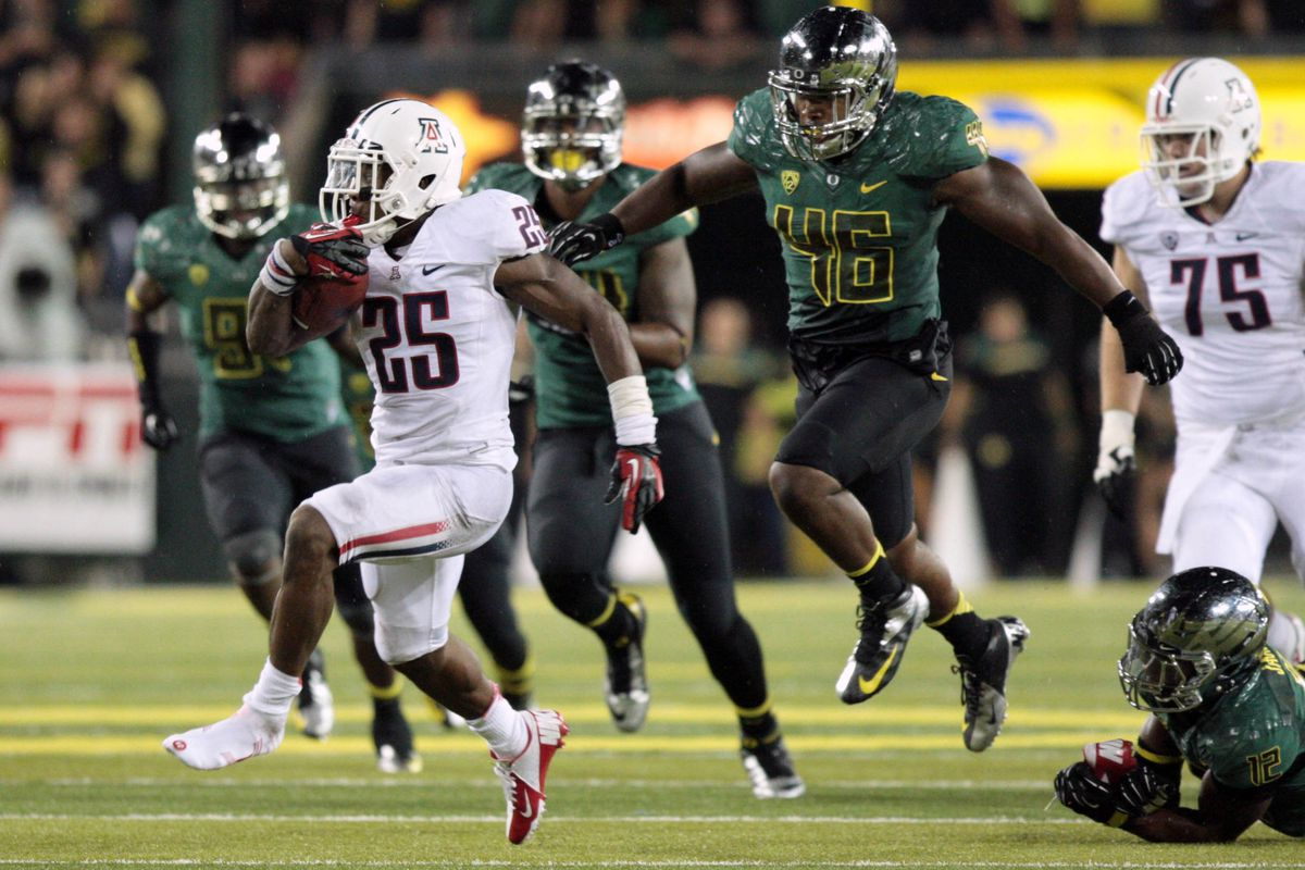 Ka'Deem Carey looks to become Arizona's all-time rushing leader on Saturday.  He is currently 117 yards behind Trung Canidate
