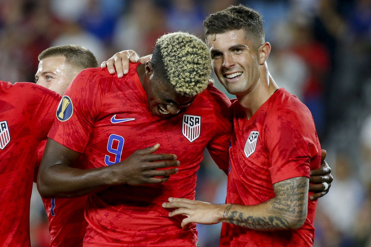 Soccer: CONCACAF Gold Cup-USA at Guyana