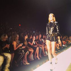 """""""All black everythang with zippers at @herveleger"""" - Chriselle Lim (<a href=""""http://instagram.com/p/d-LPYiHLj2/""""target=""""_blank"""">@chrisellelim</a>)"""