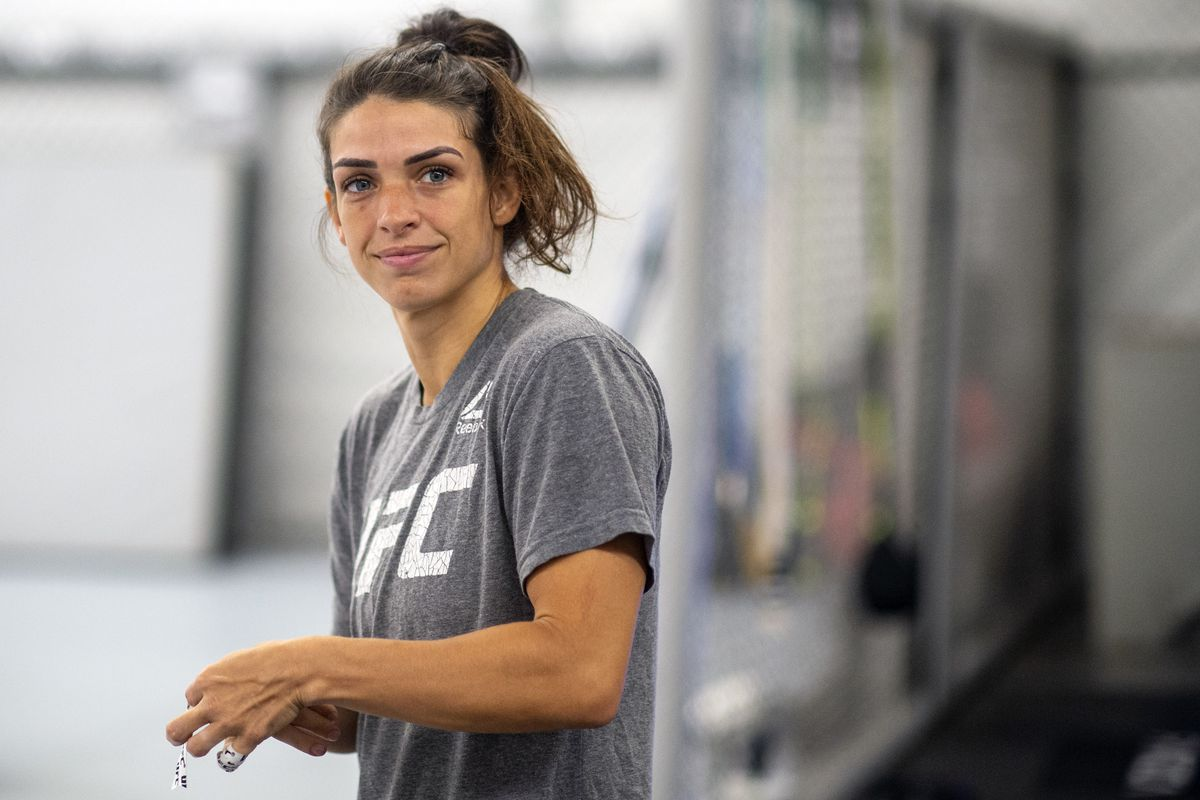 UFC fighter Mackenzie Dern works out at the RVCA Training Center in Costa Mesa...