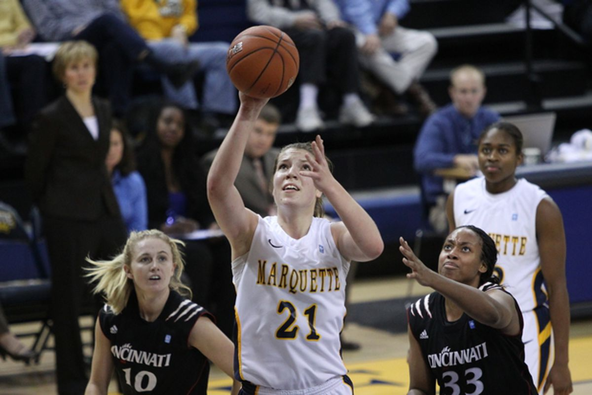 Katherine Plouffe is the straw that stirs the drink for the Golden Eagles.