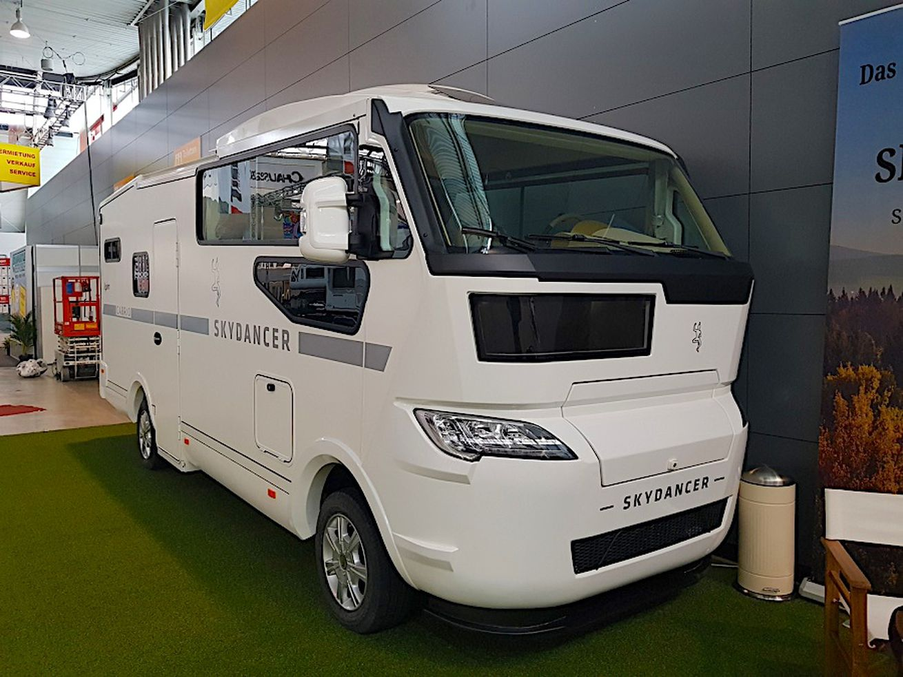 You can drive with the top down in this innovative camper