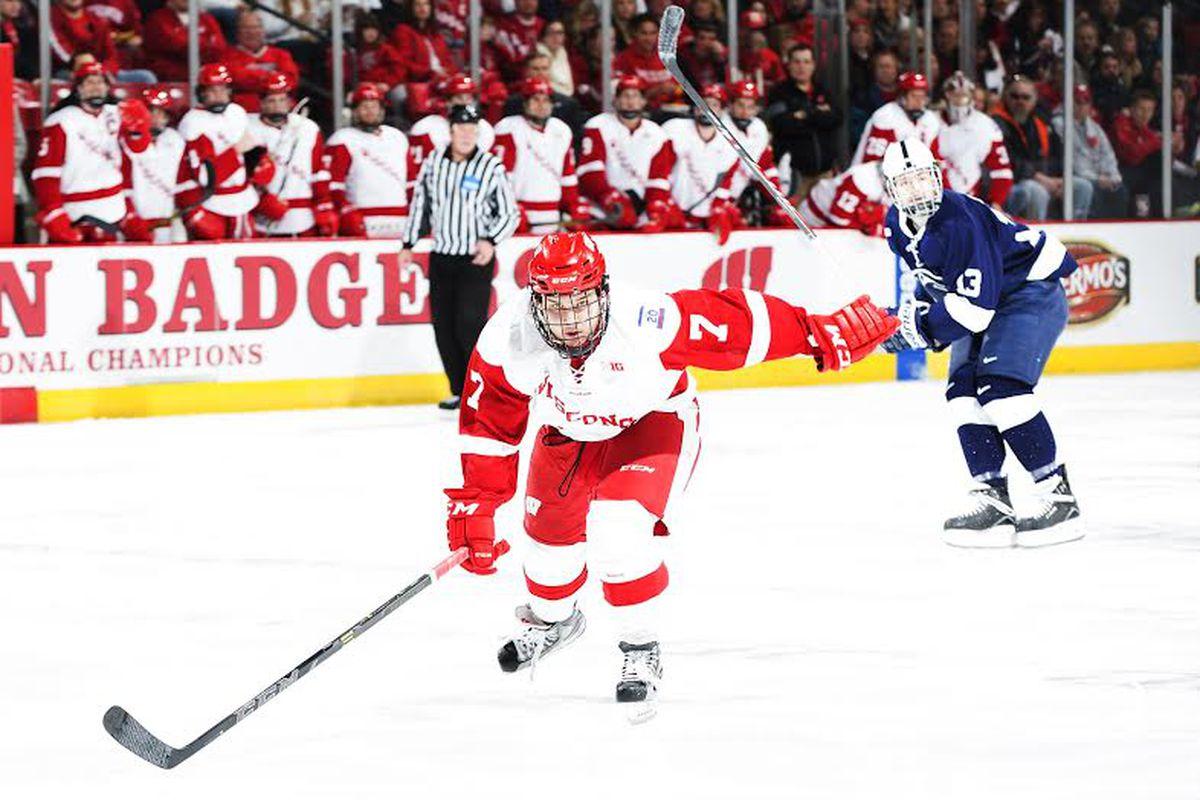Keegan Ford left the Wisconsin hockey program Dec. 9 to return to the USHL.