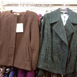 Two examples of the coats on offer