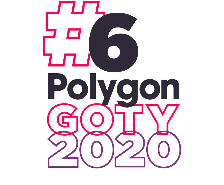 Graphic layout of the words #6 Polygon GOTY 2020