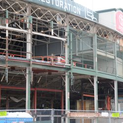 11:38 a.m. The front of the ballpark -