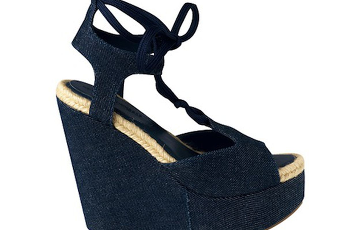 Pierre Hardy does Gap denim on a wedge. So, would you wear these with a pair of jeans?