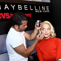 Jaime King stopped in for a makeover with artist Gabriel Almodovar earlier this week