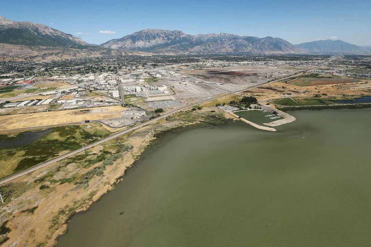 Utah Lake is pictured on Thursday, June 29, 2017. An algal bloom has spread across the majority of Utah Lake, health officials announced Wednesday, and warned people to avoid going in the water.