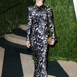 Jane Fonda changed out of her electric yellow Versace and into this spotted number.