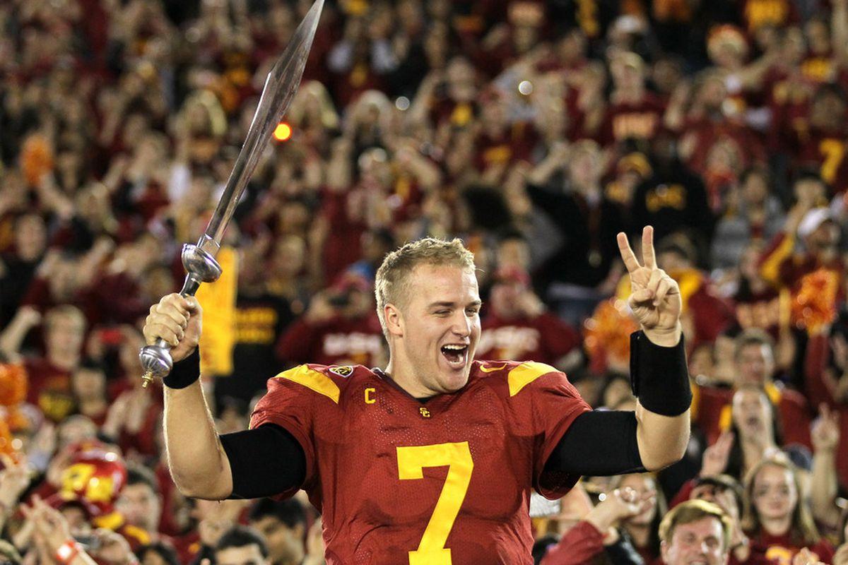 USC Football: Matt Barkley Billboard Taunts Westwood ... For A Day ...