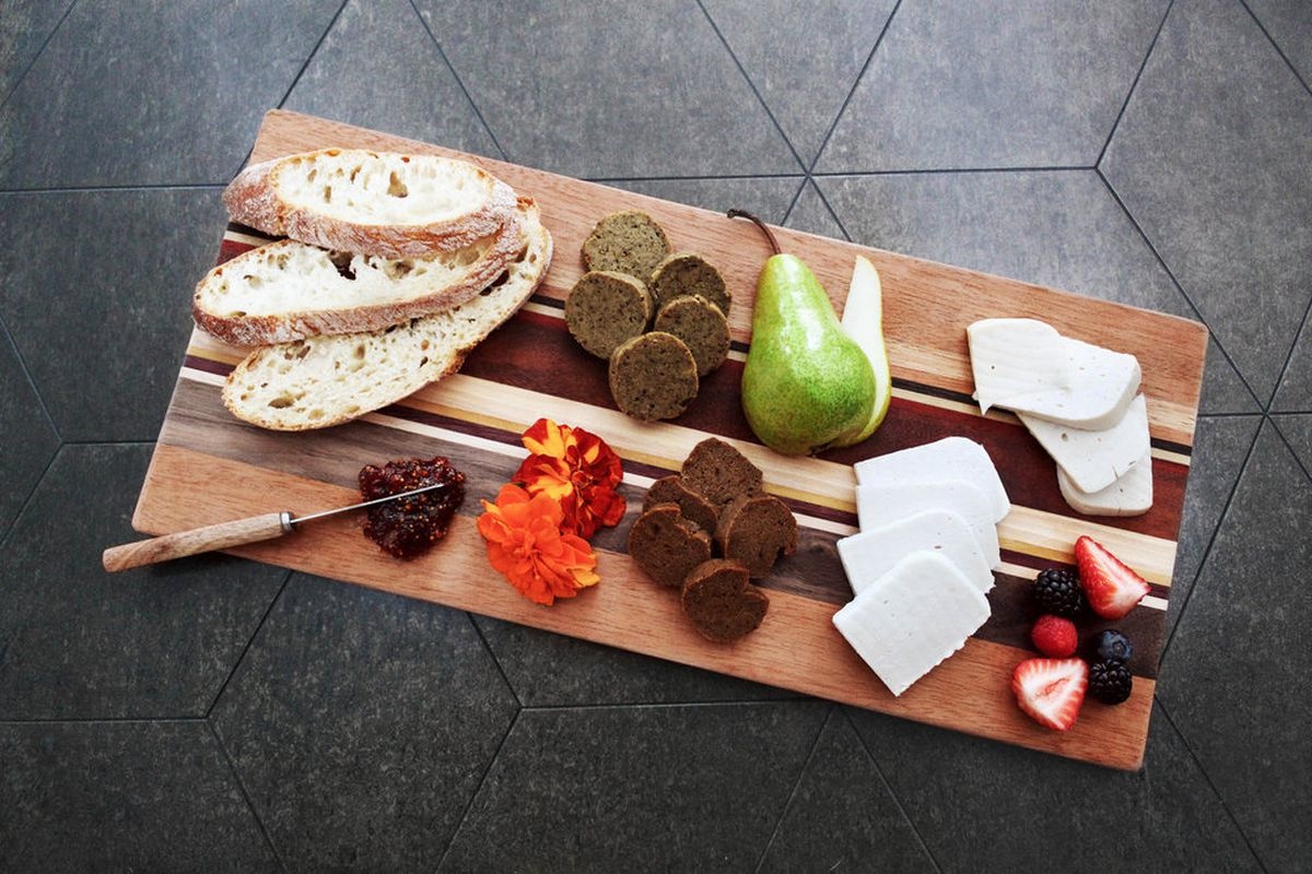 A vegan cheese board from Rebel Cheese