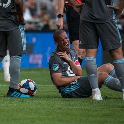 August 14, 2019 - Saint Paul, Minnesota, United States - An MLS match between Minnesota United FC and The Colorado Rapids at Allianz Field. (Tim C McLaughlin)