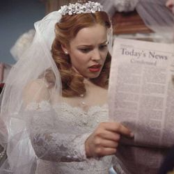The Notebook (2004): The most resilient wedding dress in the roundup—free falling backwards might actually be the best way to show off the lace.