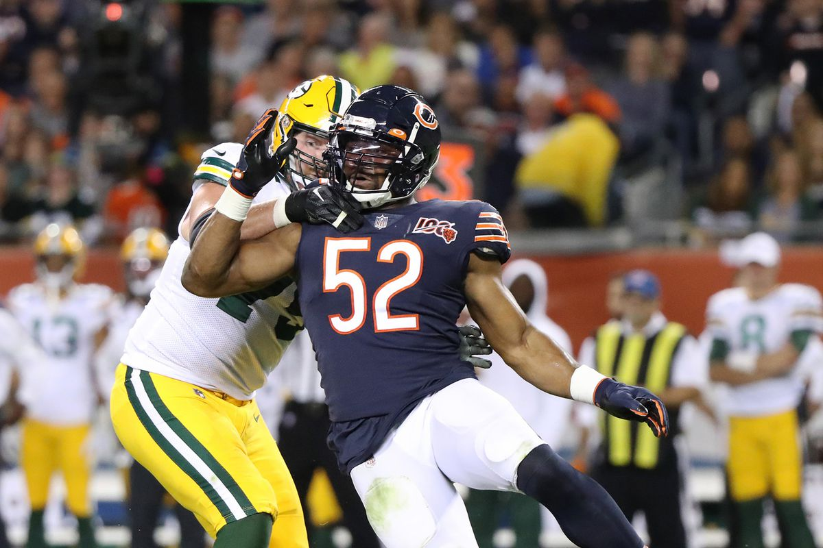Even without a sack, Bears' Mack played 'as well as I've ever had a guy play' in season-opening loss