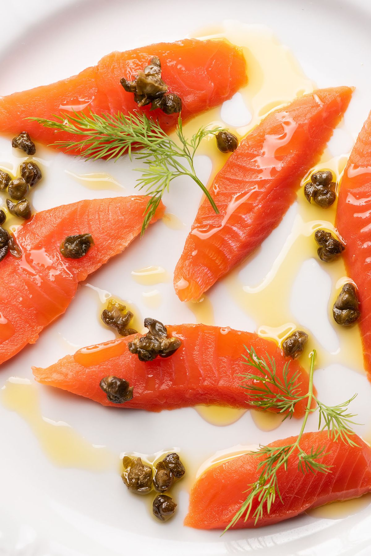 Sicilian crudo with capers and olive oil.