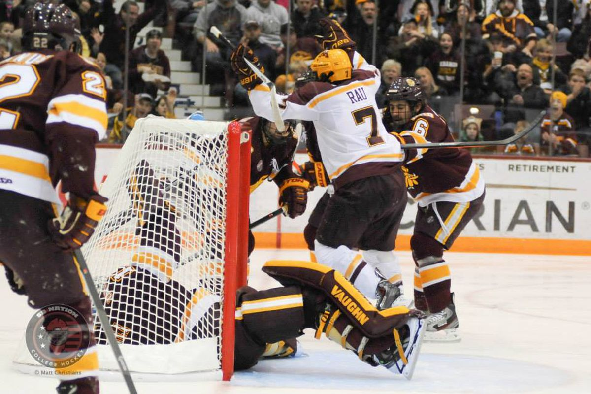 Kyle Rau (7) and the Gophers leap into Big Ten play this weekend