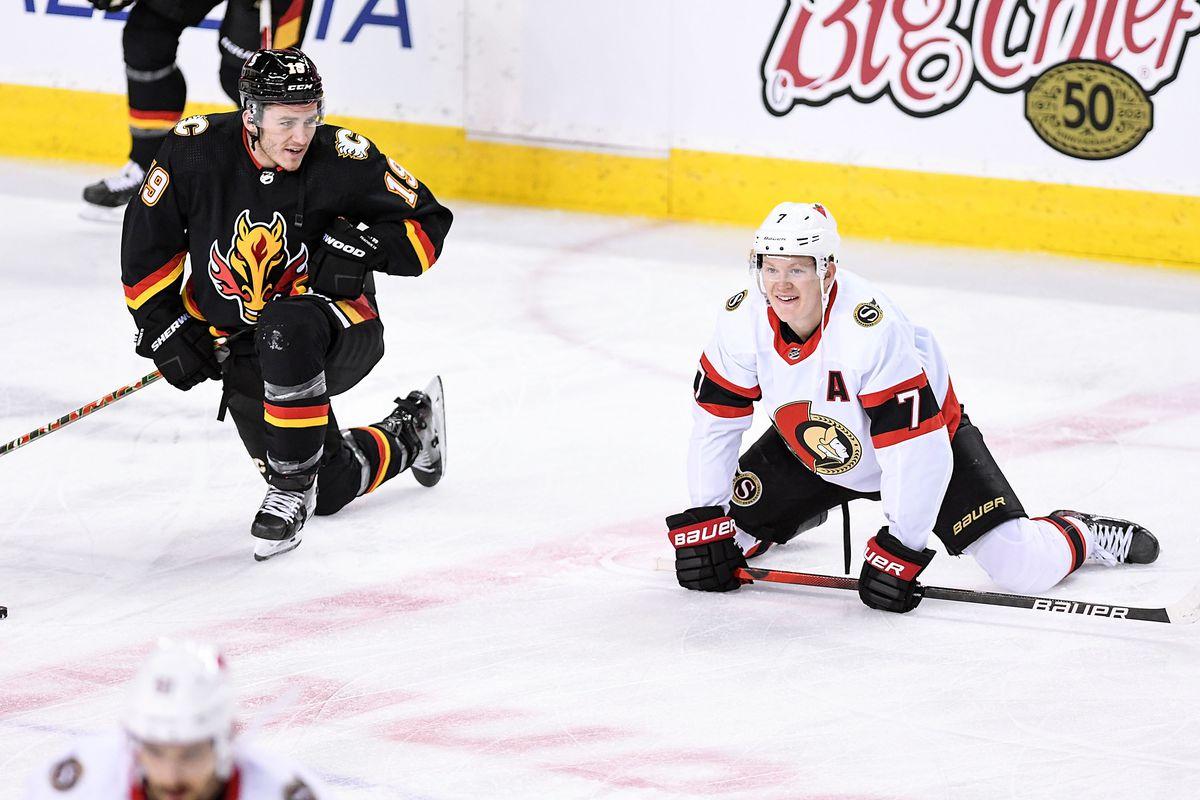 NHL: MAR 04 Senators at Flames