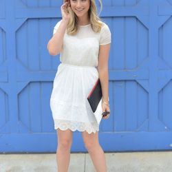 """Emily of <a href=""""http://cupcakesandcashmere.com/"""">Cupcakes and Cashmere</a> is wearing a Cult Gaia headband, Free People sunglasses, a Girl. by Band of Outsiders dress, <a href=""""http://www.zara.com/webapp/wcs/stores/servlet/category/us/en/zara-nam-S2013"""