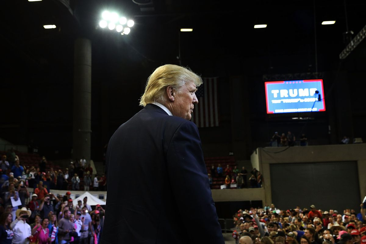 Donald Trump holds campaign rally In Billings, Montana.