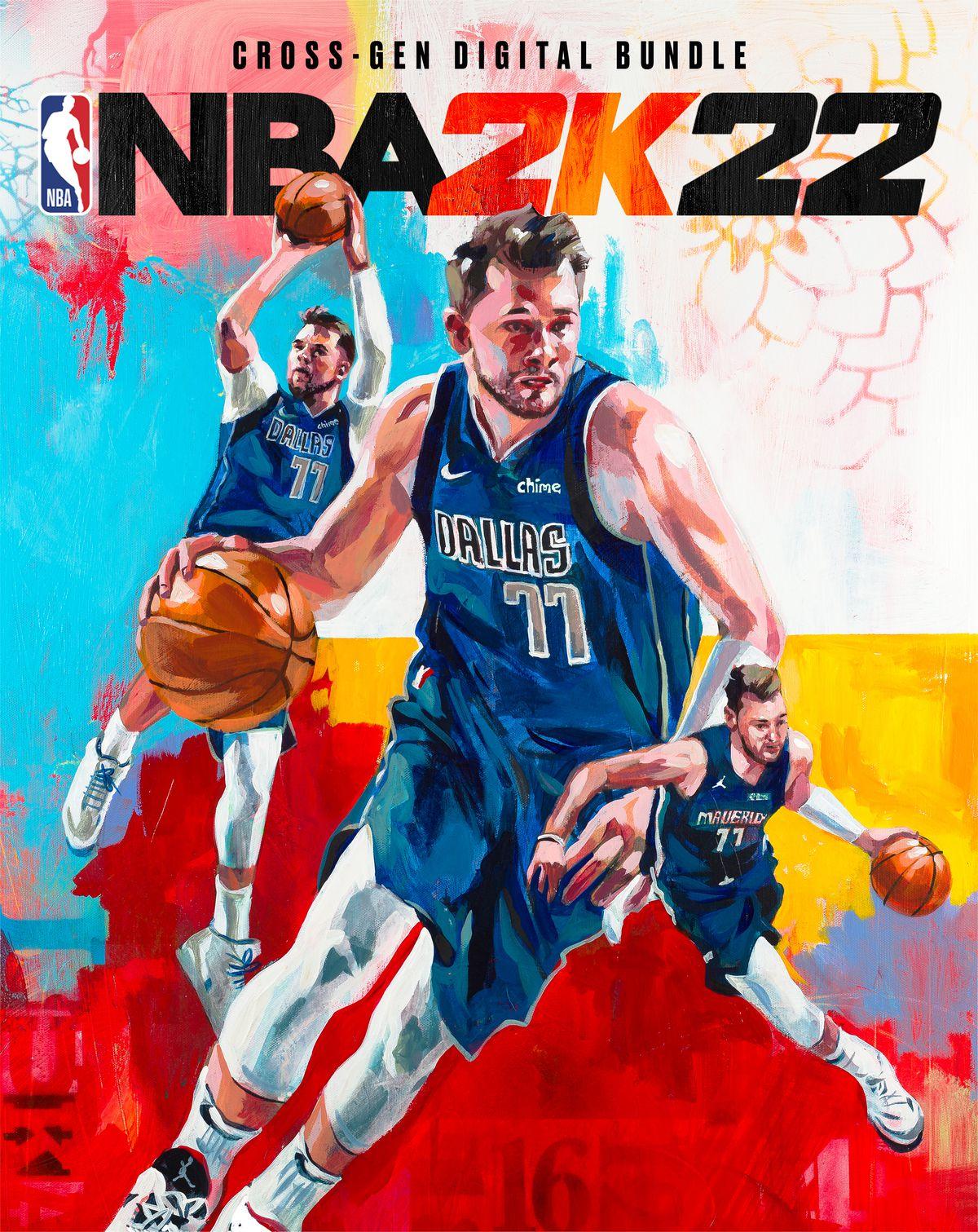 Dallas Mavericks star Luka Doncic on the NBA 2K cover.