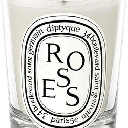 """Set the mood with a floral <strong>Diptyque</strong> candle—the lazy person's rose petals; Barneys, <a href=""""http://www.barneys.com/Diptyque-Roses-Candle/00459109001270,default,pd.html?cgid=HOMEFRAG1&index=19#"""">$60</a>"""