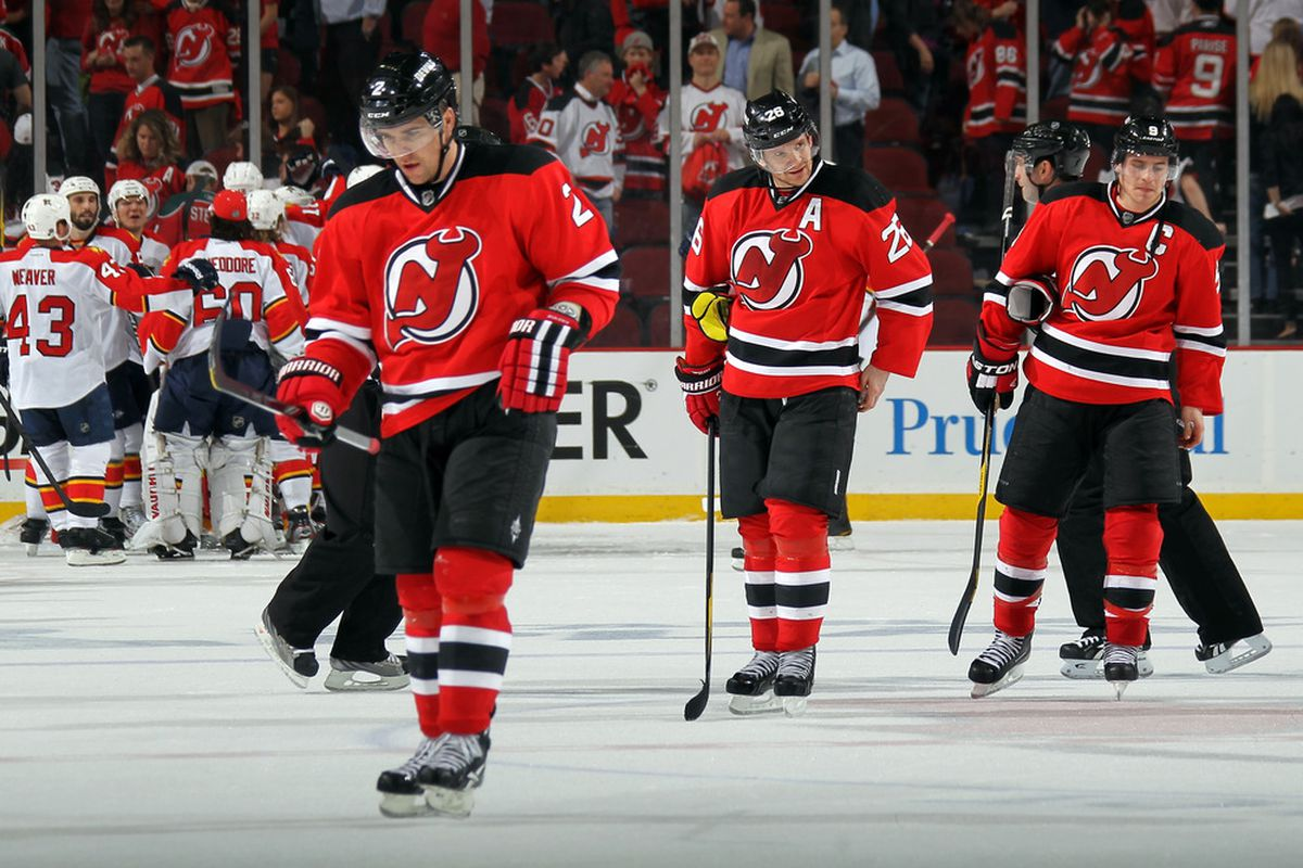Left: Zidlicky, 4th in Devils shooting with 101.  Middle: Elias, 3rd in Devils shooting with 118, Right: Salvador, 17th in Devils shooting with 27