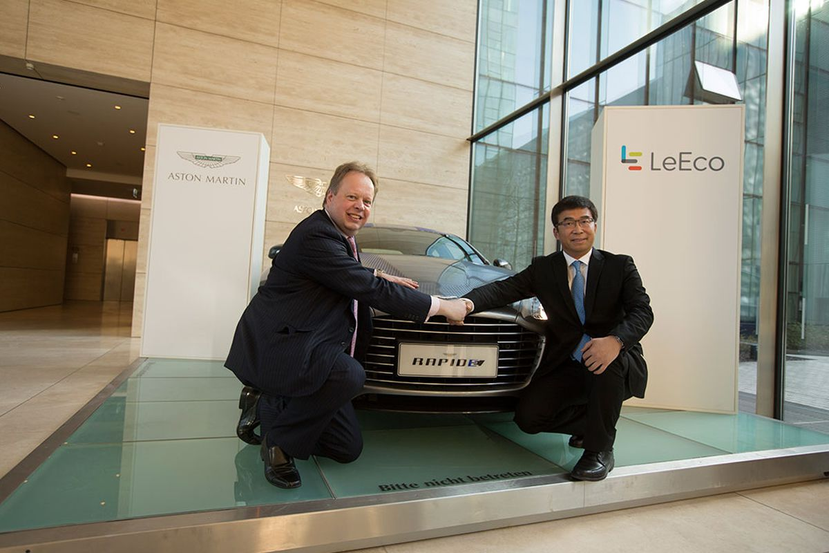 China S Leeco Is Helping Bring The Electric Aston Martin Rapide To Market