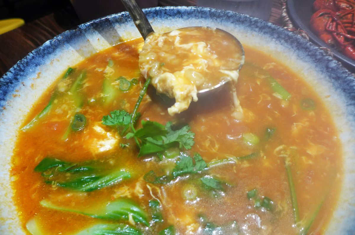 Dough drop soup
