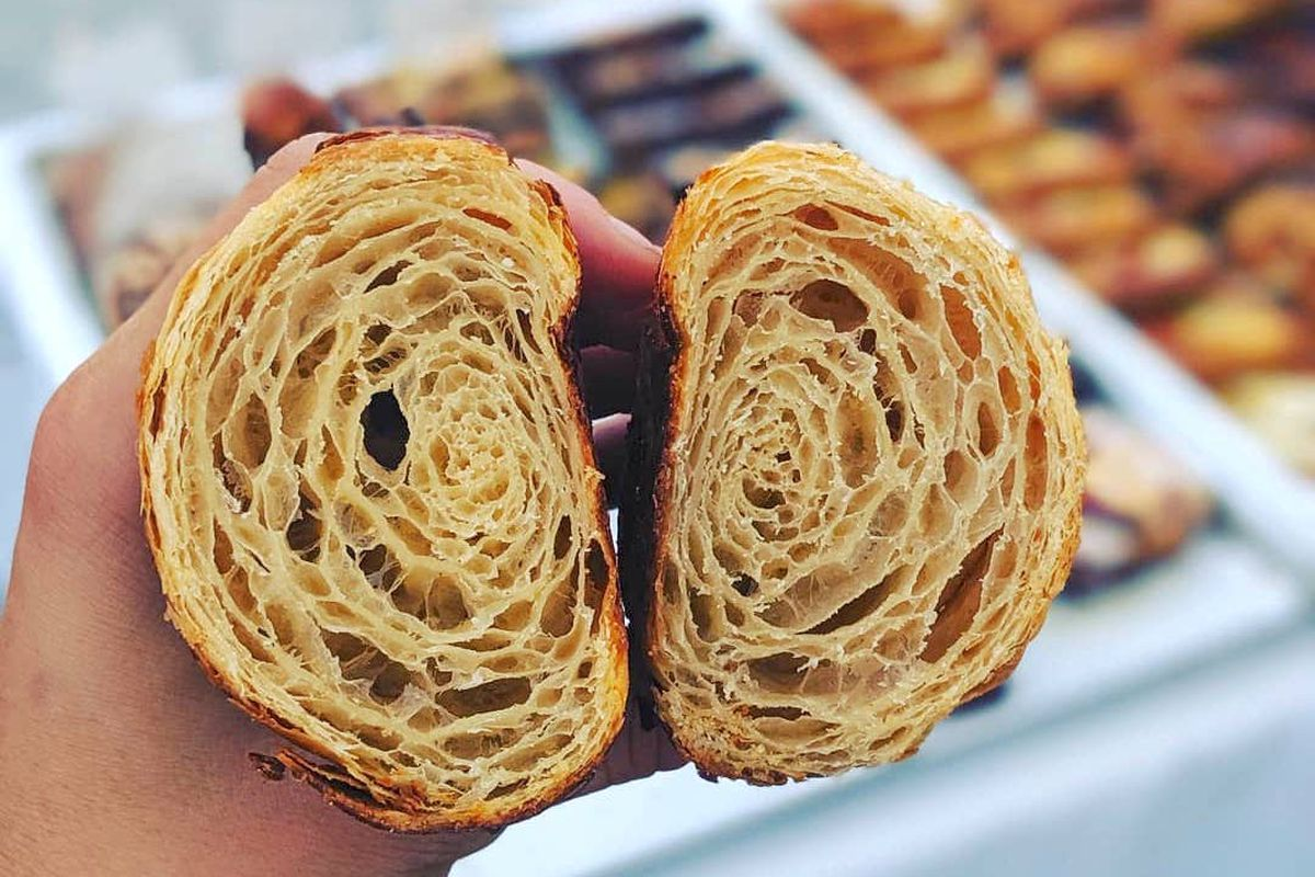 colossus bread croissant inside.