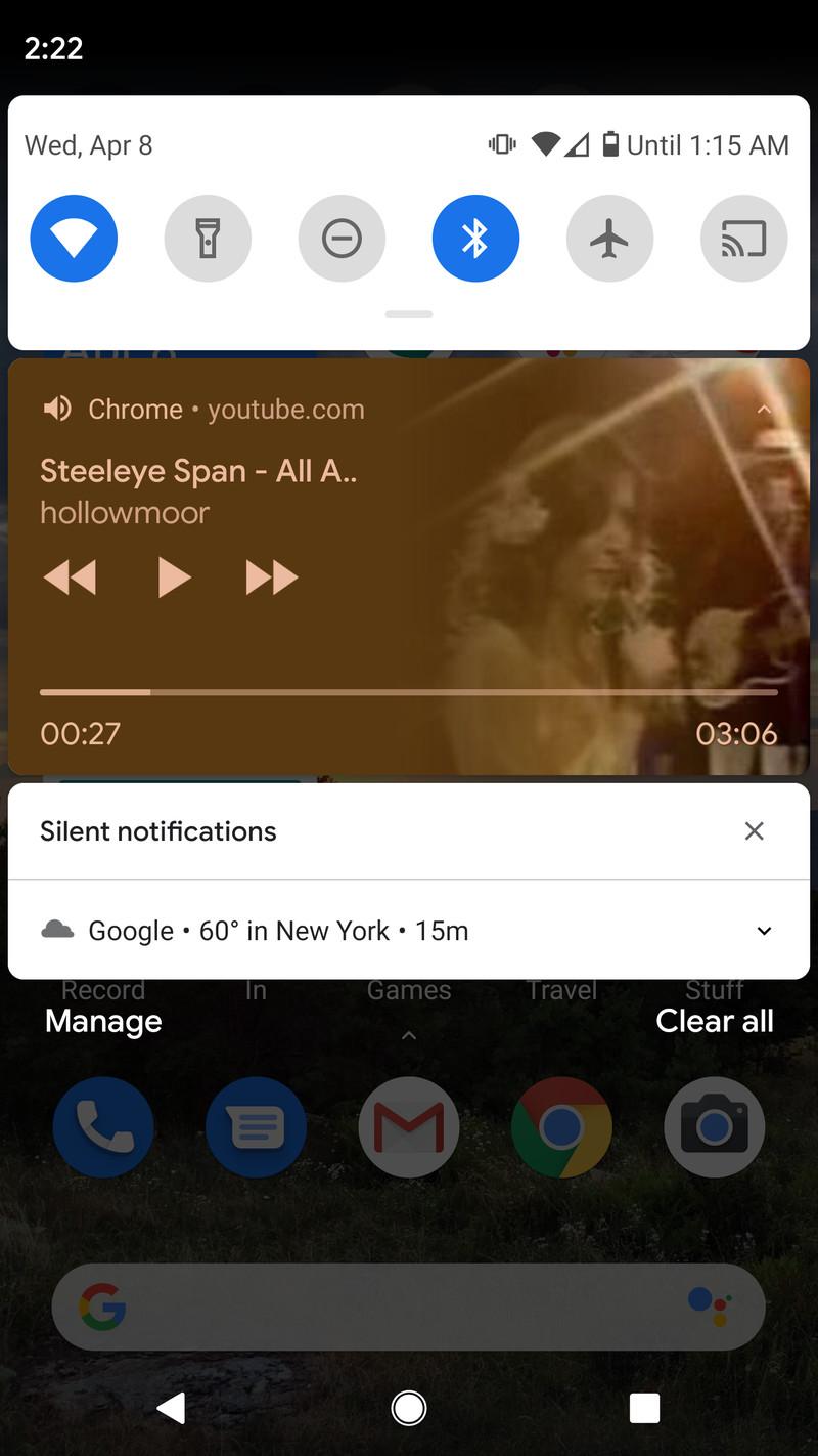 chrome youtube background
