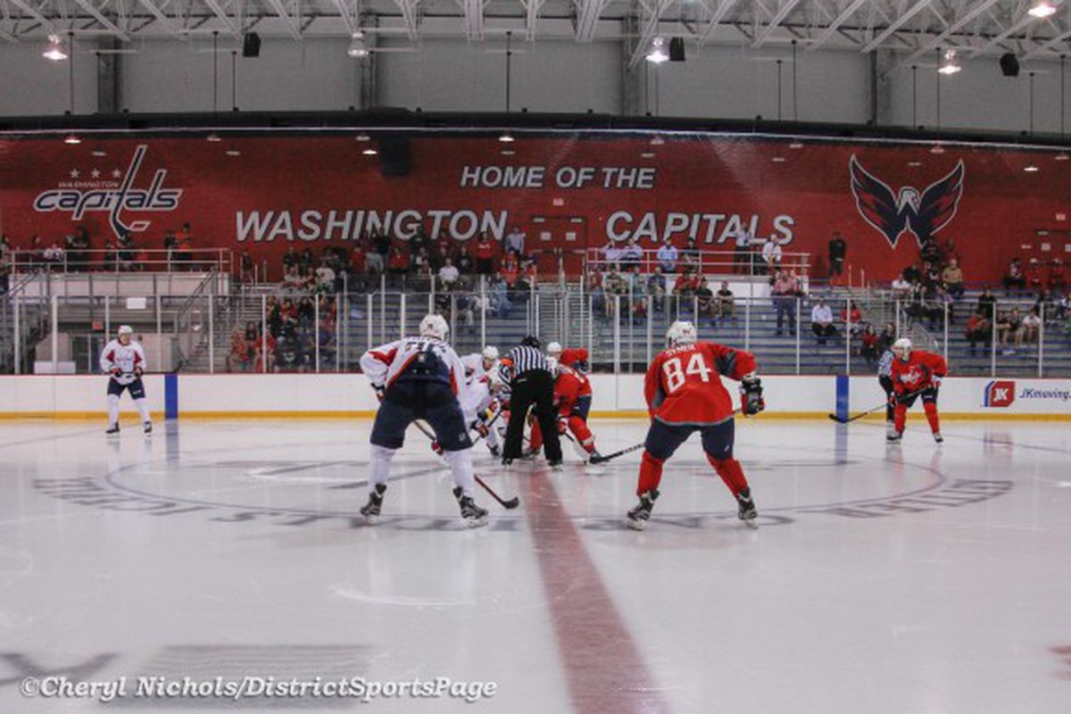 """Photo by Cheryl Nichols, <a href=""""http://districtsportspage.com/photos-washington-capitals-development-camp-day-two/9096"""" target=""""new"""">District Sports Page</a>"""