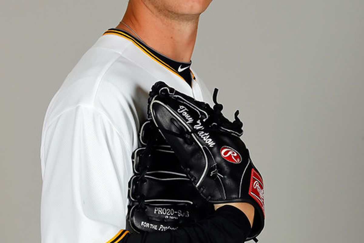 BRADENTON FL - FEBRUARY 20:  Pitcher Tony Watson #70 of the Pittsburgh Pirates poses for a photo during photo day at Pirate City on February 20 2011 in Bradenton Florida.  (Photo by J. Meric/Getty Images)