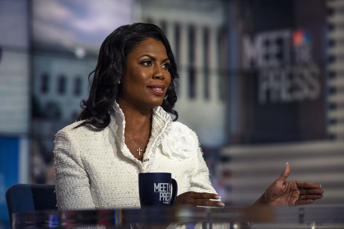 """Omarosa Manigault Newman, former assistant to President Donald Trump, appears in an exclusive interview on """"Meet the Press"""" in Washington, D.C., Sunday, August 12, 2018"""