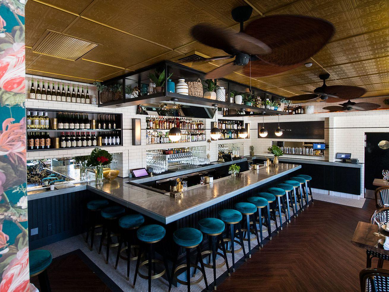 Khong Ten bar inside tabletops