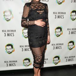 """Chrissy Teigen wore a crochet Asilio dress and a braided ponytail to the premier of """"3 Mics"""" last night. Bonus: a similar version's on sale for $200. Photo: Steven A Henry/Getty Images"""