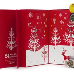 """The annual <b>DavidsTea</b> advent sampler is the perfect excuse to warm up (or calm down, depending on how frazzled the holidays make her). For <a href=""""http://www.davidstea.com/24-days-of-tea"""">$34.50</a>, the set contains 24 loose leaf tea flavors, incl"""