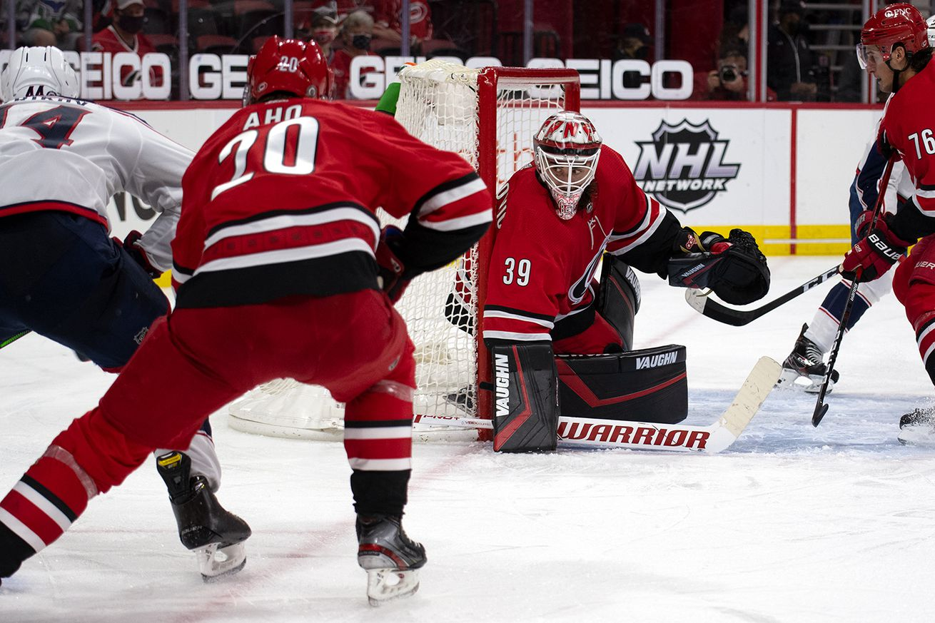 Ned's stellar night lifts Hurricanes to 2-1 overtime win over Blue Jackets