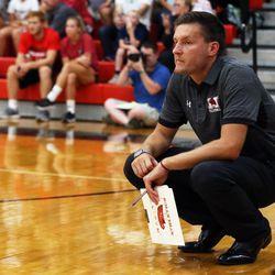 Marist coach Jordan Vidovic. Allen Cunningham/For the Sun-Times.