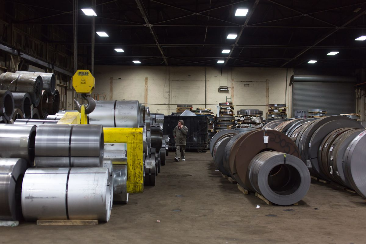 Jim Gannes at the steel plant