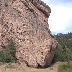 The U.S. Forest Service has launched an investigation into an unusual case of illegal graffiti written on top of an ancient rock-art panel, near Levan, Juab County, Thursday, Sept. 3, 2015. The cliff, under a well-known feature called Teering Rock, is peppered with reddish-colored Indian paintings that are somewhat hard to notice.