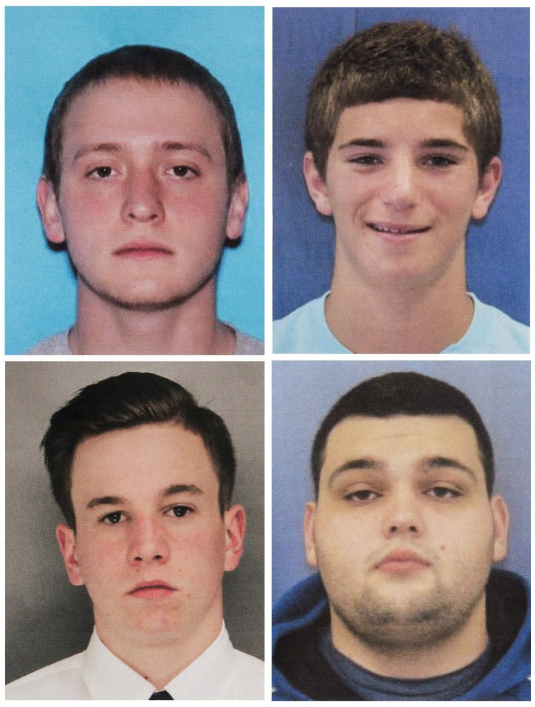 This combination of undated photos shows four men who went missing last week: Tom Meo (top left); Jimi Taro Patrick (bottom left); Dean Finocchiaro (top right), and Mark Sturgis (bottom right). | Bucks County District Attorney's Office via AP