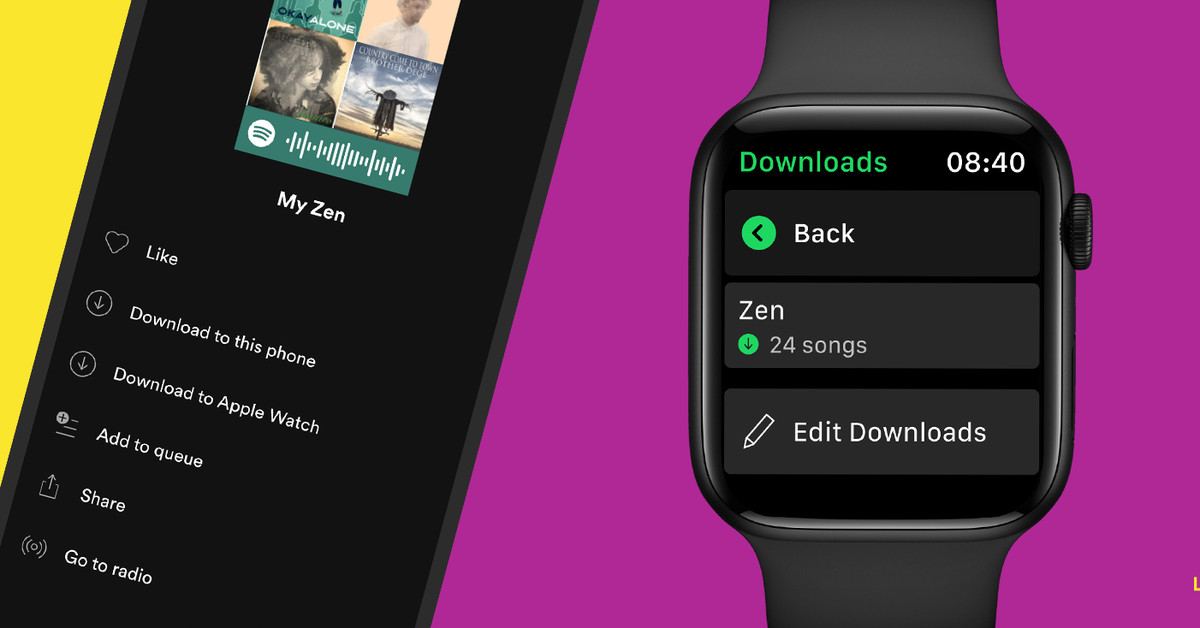 Spotify finally adds offline music downloads on Apple Watch – The Verge
