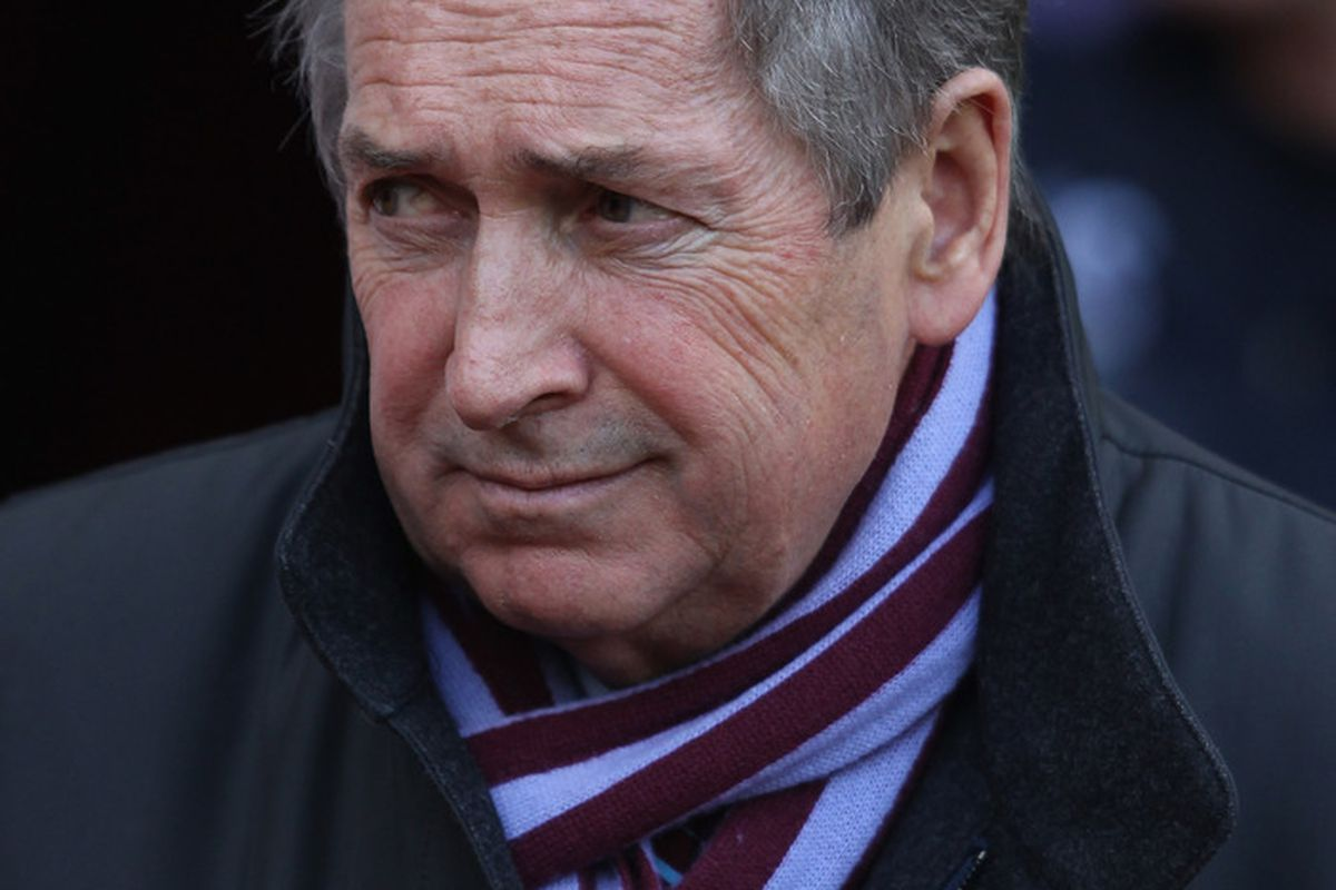 Gerard Houllier is puzzled by Aston Villa's inability to score a goal. (Photo by Clive Brunskill/Getty Images)