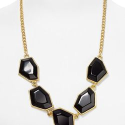 """<b>Kenneth Jay Lane</b> Gold Chain Five Hexagon Necklace, <a href=""""http://www1.bloomingdales.com/shop/product/kenneth-jay-lane-gold-chain-five-hexagon-necklace?ID=658614&CategoryID=3629&LinkType=#fn=spp%3D26%26ppp%3D96%26sp%3D1%26rid%3D52%26ppp%3D96%26sp%"""