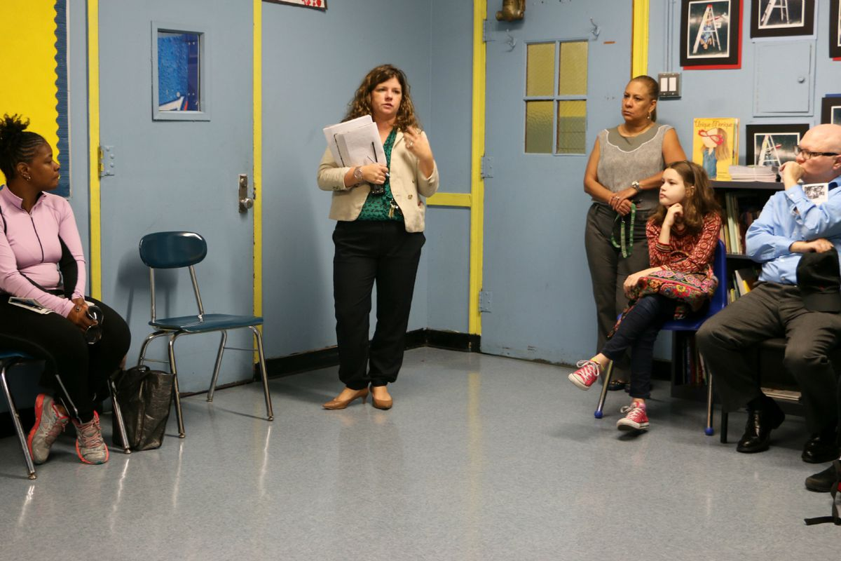 A meeting at P.S. 191, an elementary school in Manhattan's District 3.