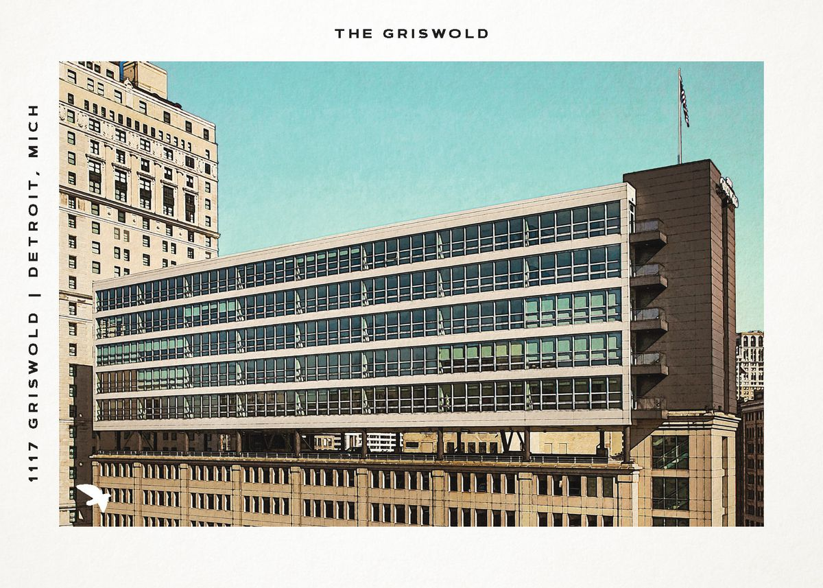 Vintage-style postcards of old and new buildings land in