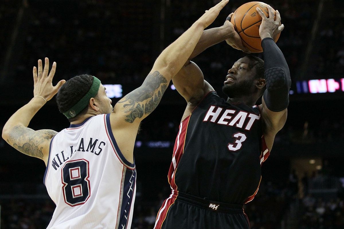 Dwyane Wade likes to shoot contested jumpers...