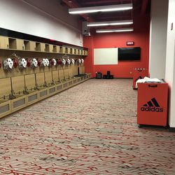 Another angle of the locker room.